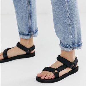 NEW velcro strap River-run summer Sandals black